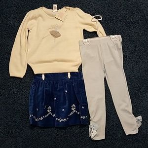 3 Pieces Janie and Jack Sweater Outfit